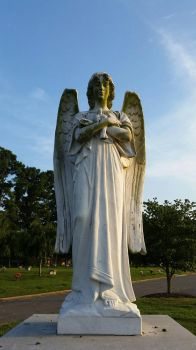 Guardian Angel Statue  by OddGarfield