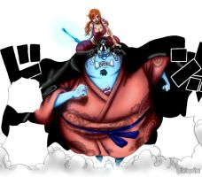 One Piece 854 - Jinbei and Nami colored version by Hanayo-Nao