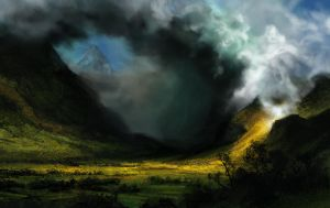 Master Study: Storm in the Mountains by Illustrum