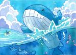 Wailord by owlburrow