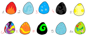 Egg adoptables by TorchTheDragon