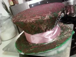 Mad Hatter hat cake by SweetSorrowIsMY2moro