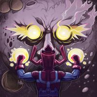 Daily Sketches Galactus Vs Ego by fedde