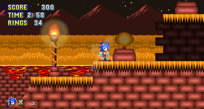Sonic Re-mania: Blazing Garden Zone act 1 by Welber13