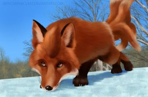 Realistic Vulpix by Wraeclast