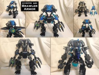 Bionicle (G2) MOC: Kivette and Brawler Armor by Hexidextrous