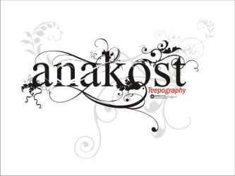anakost typography by anakost