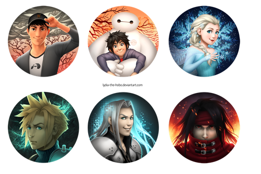 Disney and FFVII stuff by lydia-the-hobo