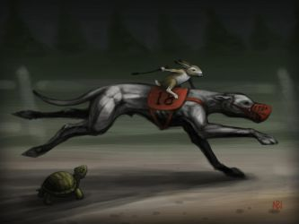 The Tortoise and the Hare (and the Greyhound) by nilwill