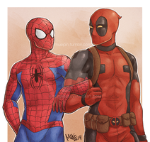 Spideypool Day! by muepin