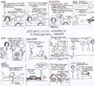 The ways I'd die horribly in Supernatural Universe by MilwaukeeMeg
