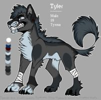 Tyler refsheet by SparkyVividGalaxy