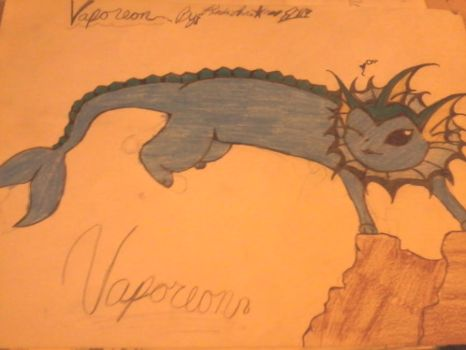 my version of vaporeon by dangerousemo123