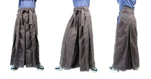 Gray and white Hakama Stock by Lastwear