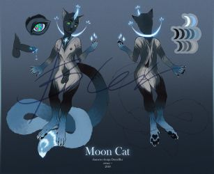 Moon Cat adoptable [OPEN] by DaryaBler