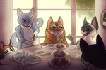 Cat Tea Party by Lightcall-Skeleton