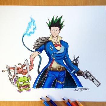 17 Anime Combined into one Pencil Drawing by AtomiccircuS