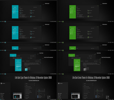 Litle Dark Cyan and Green Theme Win10 Build 10586 by Cleodesktop