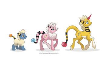 Woolectric Family Ponikemon by Almairis