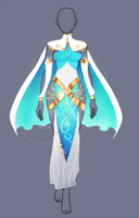 (closed) Auction Adopt - Priestess Outfit by CherrysDesigns