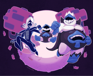 Deltarune: Lancer's Double Dads by SavageDeity