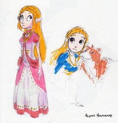 Zelda by little-ampharos