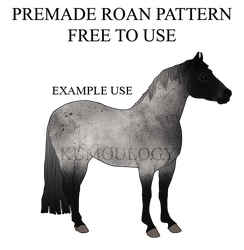 Free to Use - Premade Horse Roan Pattern by Kumoulogy