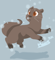 dat otter. by xBadgerclaw
