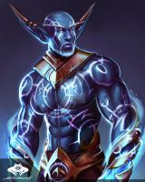 ...Commission: Nightborne Sorcerer... by ShadowPriest