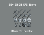 Free To Use 32x32 Game Objects(Read Description!) by MomentaryUnicorn
