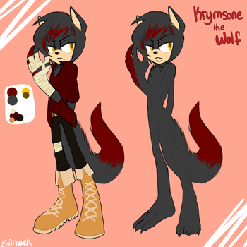 :Oc re-design: Krymsone the wolf by Siinnack