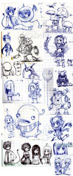 Notebook-doodles Sketch Dump by Parororo