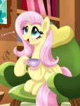 MLP FIM - Fluttershy Tea Party by Joakaha