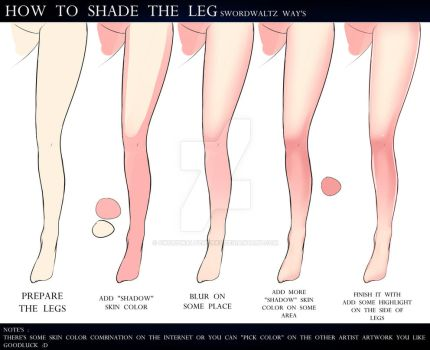 HOW TO SHADING THE LEGS by SwordwaltzWORKS