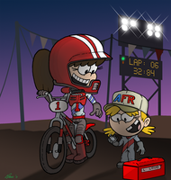 BMX Lynn and Lana by KrDoz