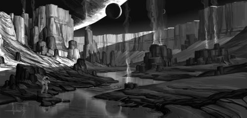Valley of Geysers by Andead