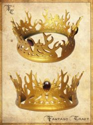 Game of Thrones - Joffrey Baratheon leather crown by Fantasy-Craft