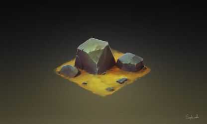 Isometric Stone by Sephiroth-Art