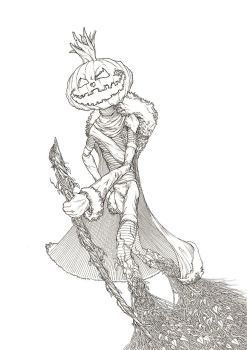 The Pumpkin King by awolfillustrations