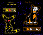 Cheat sheet: Umbreon and Houndour. by CathyNoire