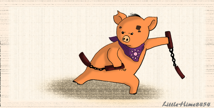 Humpish with his nunchakus by LittleHime8454
