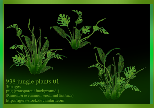 938 Jungle Plants 01 by Tigers-stock