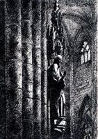 Gothic interior - Freiburg cathedral [pen] by Dominczak
