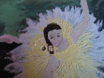 Close-up of Dancer with Bouquet on LP by LeopardBrightsky