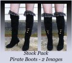 Stock Pack - Pirate Boots by Gracies-Stock