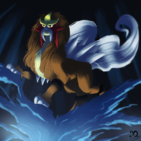 Pokemon Challenge - Day 5 - Entei by Xaneas