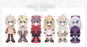 Adoptable: Casual Babes Batch 15 [CLOSE] by amepan