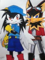 Klonoa and Guntz by emichaca