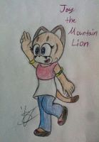 Jay the Mountain Lion ( my sister's  OC) by Ms-Maggie