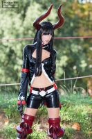 Gold Saw _ Black Rock Shooter Cosplay by Adelbra